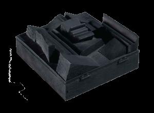 Louise Nevelson, Black Cryptic XVI, 1984, Peinture noire sur bois, 12,7 x 12 x 5 cm